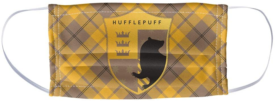 Popfunk Harry Potter face mask, Hufflepuff crest print