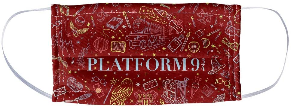 Popfunk Harry Potter face mask, Platform 9 3/4 print