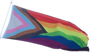 A Pride flag