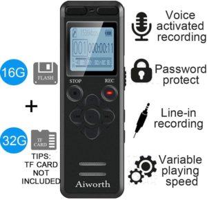Recorder for recording Binn's lessons