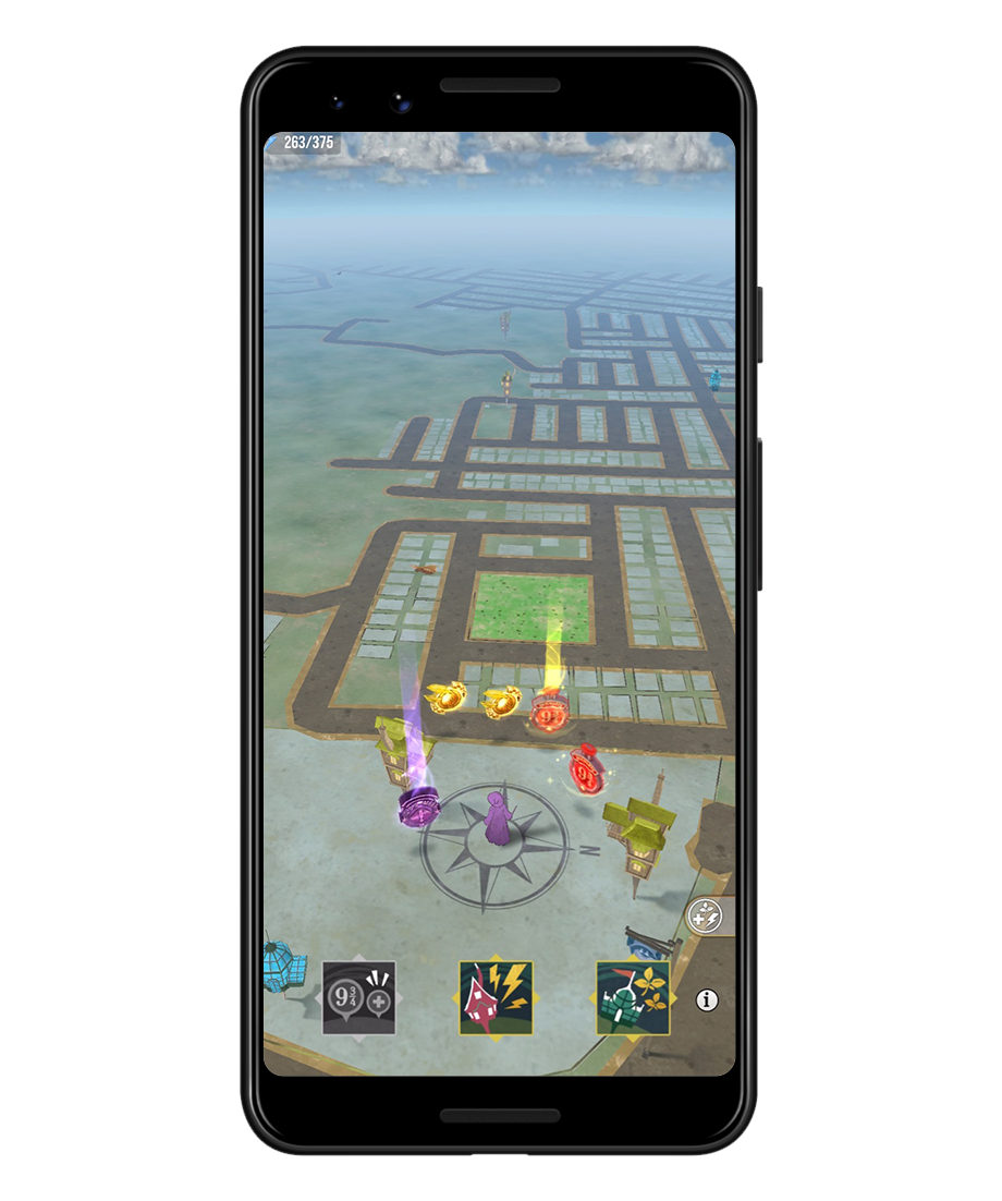 An image of gameplay from Wizards Unites SOS Training.