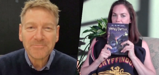 Sir Kenneth Branagh (Gilderoy Lockhart) and Ruth Wilson narrate Chapter 16 for Harry Potter at Home. Helena Bonham Carter (Bellatrix Lestrange) is not pictured.