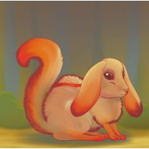 The Charmyrll is an orange creature that looks like a rabbit and a squirrel.