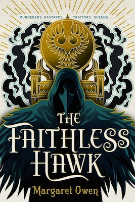 The book cover for The Faithless Hawk, which is the second book in the Merciful Crow Series, by Margaret Owen.