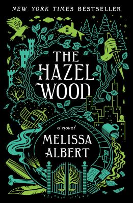 "The book cover for ""The Hazel Wood"", the first in the trilogy, by Melissa Albert."