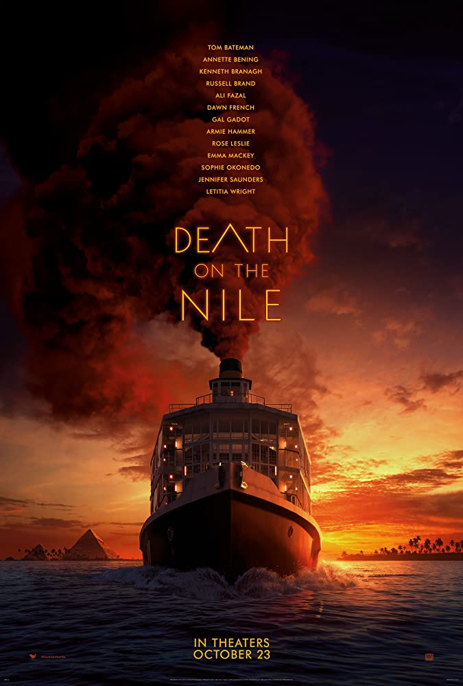 "Pictured is the movie poster for ""Death on the Nile""."