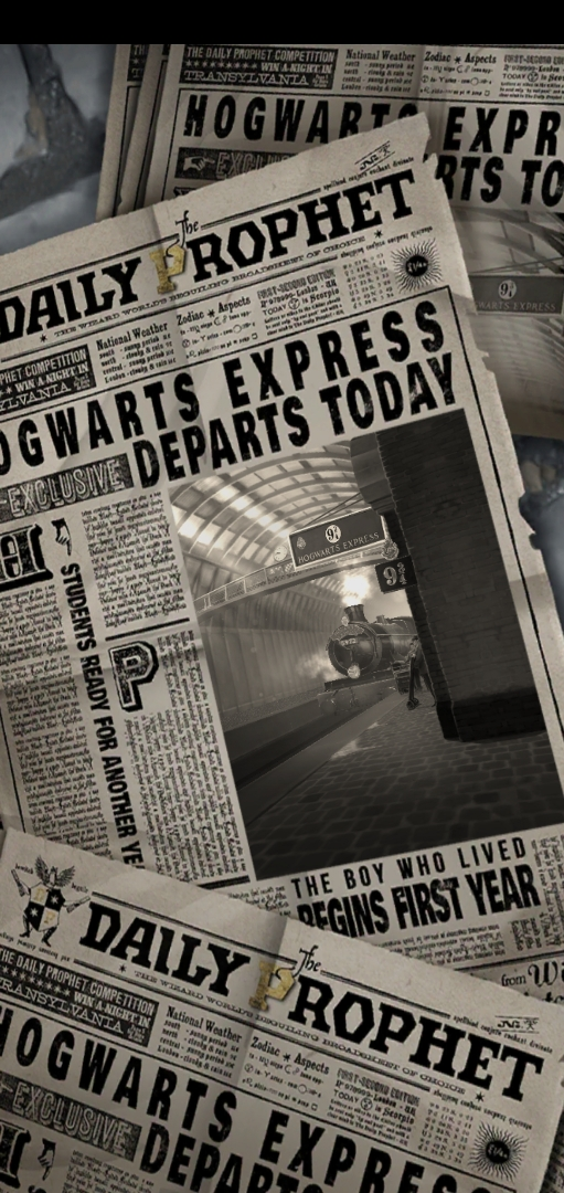 """The Daily Prophet"" reports on the departure of the Hogwarts Express as you switch scenes."