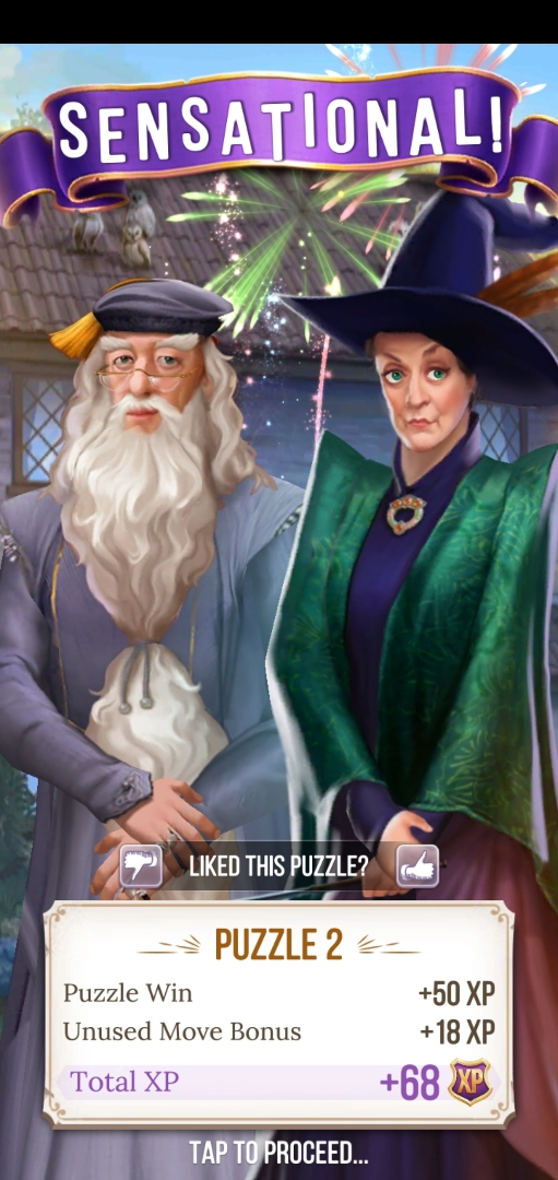 Albus Dumbledore and Minerva McGonagall are here to tell you what a sensational job you've done.