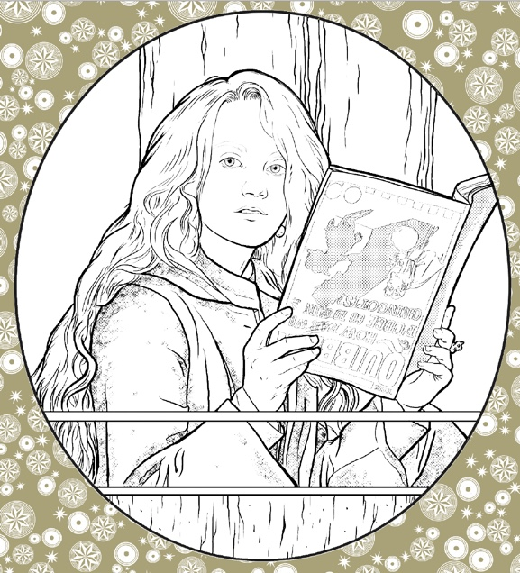 """Harry Potter: Coloring Wizardry"", Luna Lovegood"