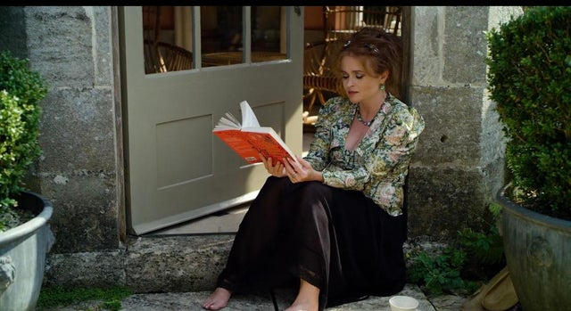 "Helena Bonham Carter is pictured in a film still from ""A Poem for Every Autumn Day""."