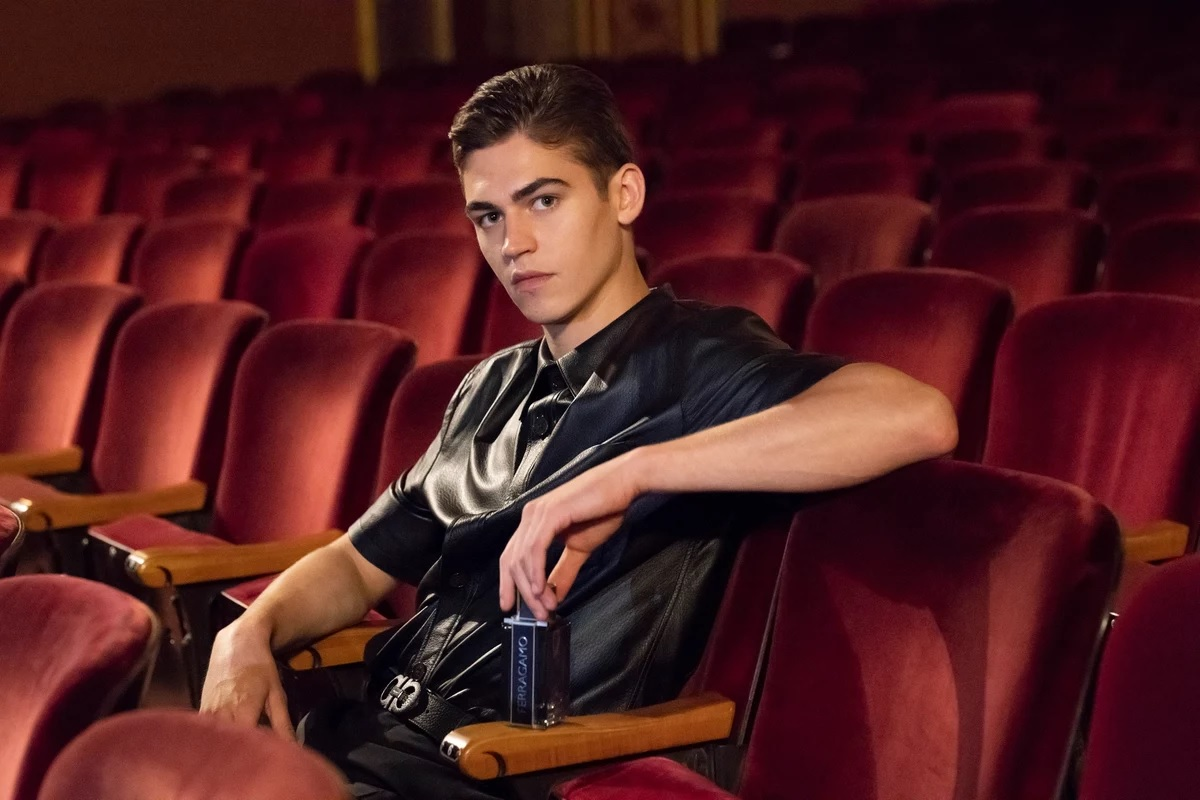 Hero Fiennes-Tiffin will spray anyone who tries to get within six feet of him at the theater with his Ferragamo.