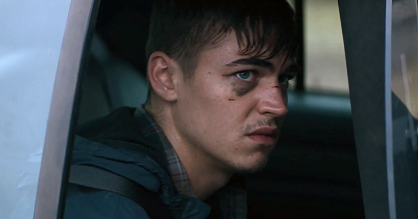 "Hero Fiennes-Tiffin looks worse for wear in this film still from ""The Silencing""."