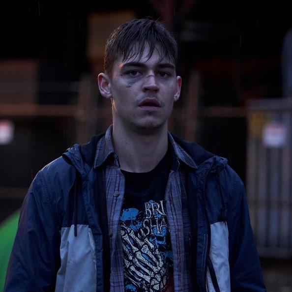 "Hero Fiennes-Tiffin is clearly having a difficult day in this film still from ""The Silencing""."