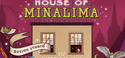 House of MinaLima is shown in a graphic design