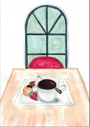 """Pictured is an illustration for the United Kingdom edition of """"The Ickabog"""" by Erica, 12, of Australia."""