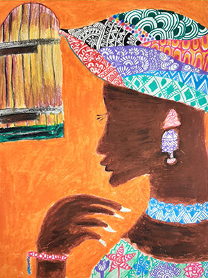 """Pictured is an illustration for the United Kingdom edition of """"The Ickabog"""" by Meghashree, 8, of India."""