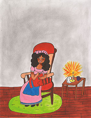 """Pictured is an illustration for the United States edition of """"The Ickabog"""" by Abiyana, 11, of Colorado."""