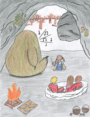 """Pictured is an illustration for the United States edition of """"The Ickabog"""" by Aderes, 12, of California."""