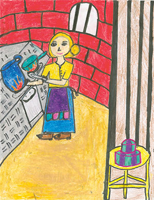"""Pictured is an illustration for the United States edition of """"The Ickabog"""" by Advika, 9, of Texas."""