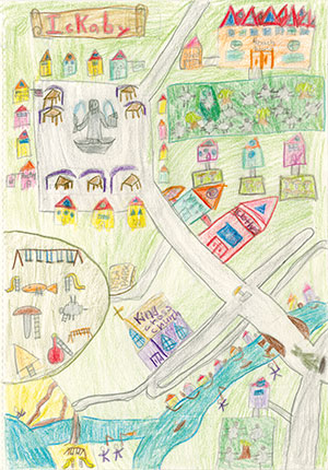 """Pictured is an illustration for the United States edition of """"The Ickabog"""" by Agata, 8, of California."""