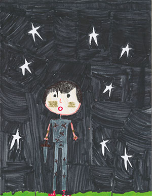 """Pictured is an illustration for the United States edition of """"The Ickabog"""" by Anabelle, 9, of Florida."""