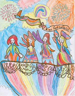 """Pictured is an illustration for the United States edition of """"The Ickabog"""" by Annika, 8, of the District of Columbia."""