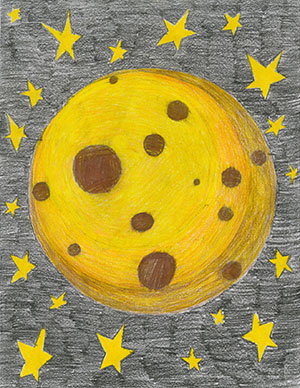 """Pictured is an illustration for the United States edition of """"The Ickabog"""" by Eden, 9, of Ontario, Canada."""