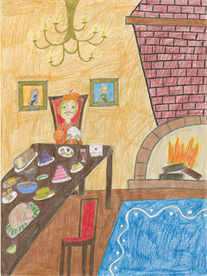 """Pictured is an illustration for the United States edition of """"The Ickabog"""" by Emily, 12, of Ontario, Canada."""