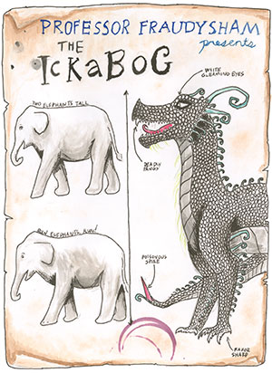 """Pictured is an illustration for the United States edition of """"The Ickabog"""" by Esmé, 10, of Washington."""