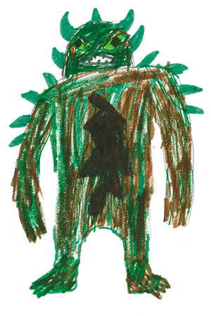 """Pictured is an illustration for the United States edition of """"The Ickabog"""" by Jasper, 11, of New York."""