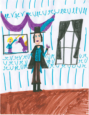 """Pictured is an illustration for the United States edition of """"The Ickabog"""" by Lucia, 10, of Hawaii."""