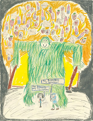 """Pictured is an illustration for the United States edition of """"The Ickabog"""" by Lucy, 9, of New York."""