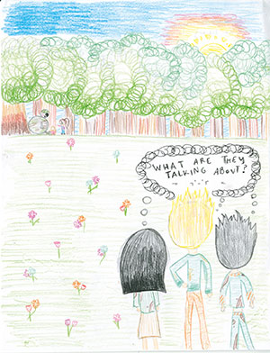 """Pictured is an illustration for the United States edition of """"The Ickabog"""" by Madeline, 12, of Texas."""