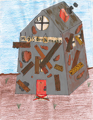 """Pictured is an illustration for the United States edition of """"The Ickabog"""" by Manvik, 10, of California."""