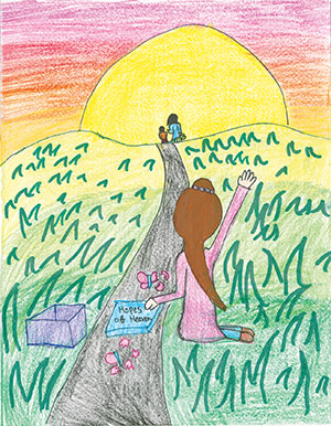 """Pictured is an illustration for the United States edition of """"The Ickabog"""" by Petra, 9, of Virginia."""