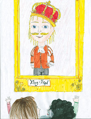 """Pictured is an illustration for the United States edition of """"The Ickabog"""" by Sarah, 11, of Alberta, Canada."""