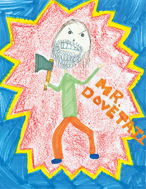 """Pictured is an illustration for the United States edition of """"The Ickabog"""" by Taarika, 9, of California."""