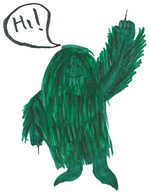"""Pictured is an illustration for the United States edition of """"The Ickabog"""" by Violet, 9, of Illinois."""