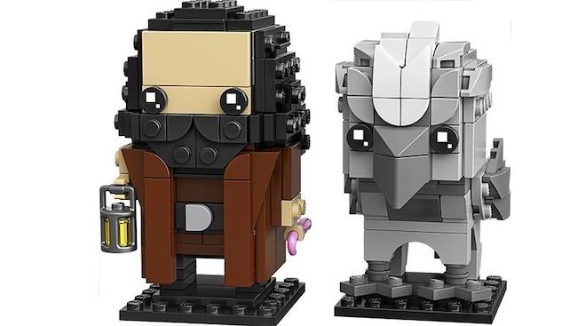 A product image of LEGO BrickHeadz figures of Hagrid and Buckbeak.