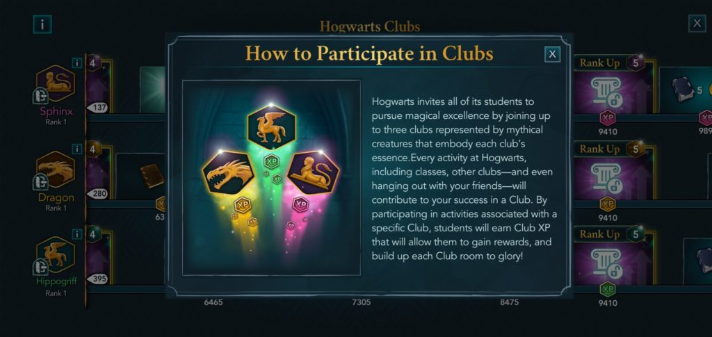 """""""Hogwarts Mystery"""" provides a quick rundown on how to participate in clubs."""