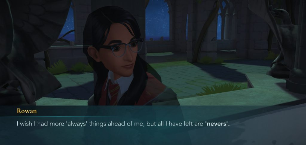 """Rowan Khanna depresses the heck out of everyone in """"Hogwarts Mystery""""."""