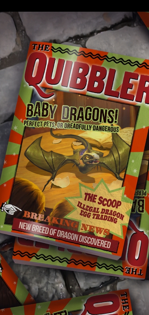 """""""The Quibbler"""" gives us the scoop on baby dragons in """"Puzzles & Spells""""."""