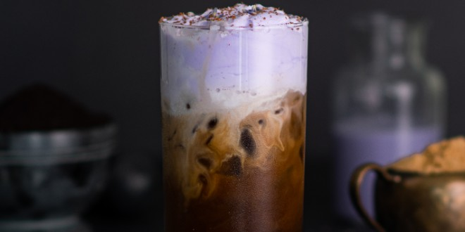 Lavender Brown's Iced Coffee