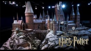 The Hogwarts model at Warner Bros. Studio Tour London is pictured.