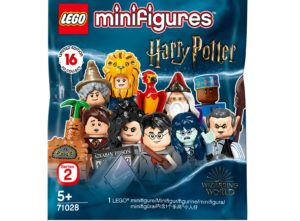 The packaging of the Harry Potter LEGO Minifigures is pictured.