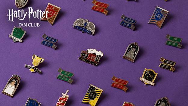 """The pins feature unique, never-before-seen designs and showcase iconic """"Potter"""" items and moments."""