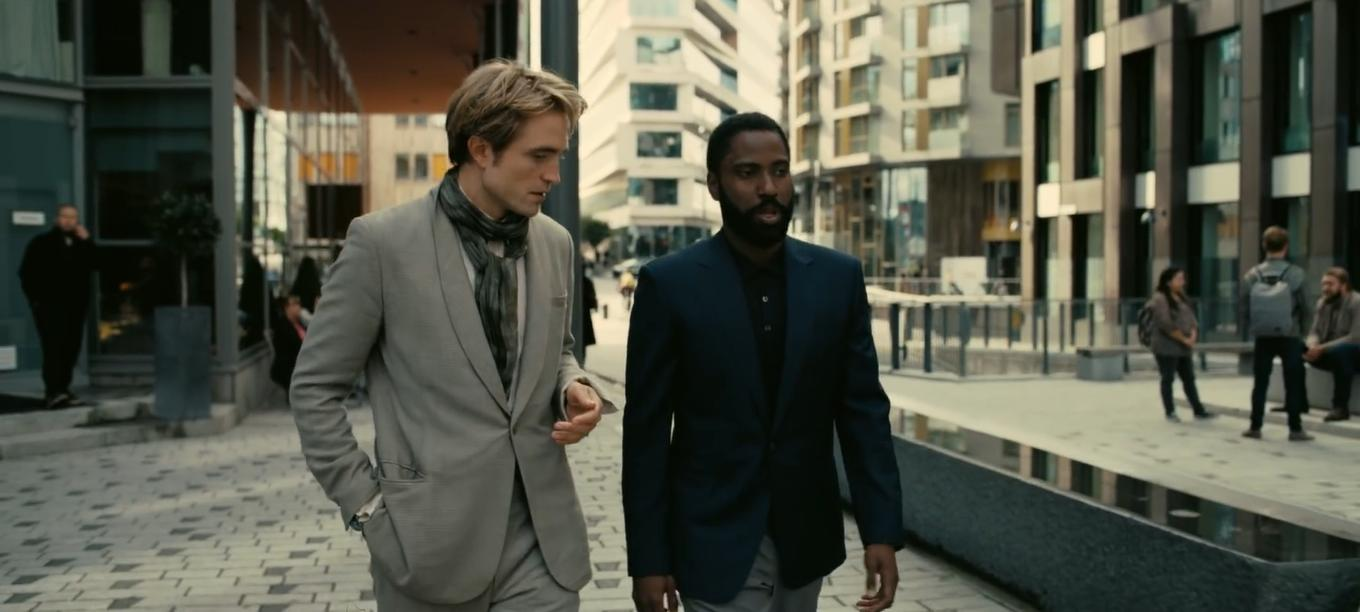 "Robert Pattinson and John David Washington are still trying to figure out what the heck their movie is about in this film still from ""Tenet""."