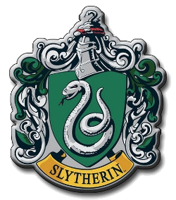 The sign of Slytherin house is a snake