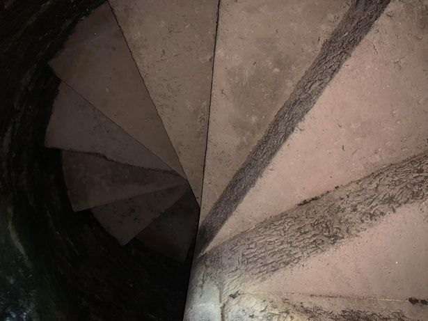 Fort Mitchel staff recently discovered this 230-year-old spiral staircase.
