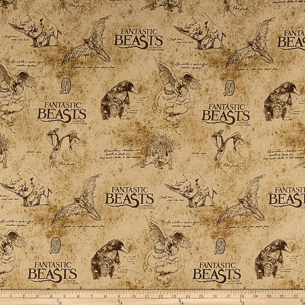 """Fantastic Beasts"" fabric"